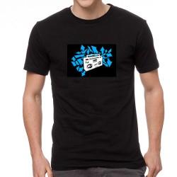 Volume EQ világító equalizeres póló