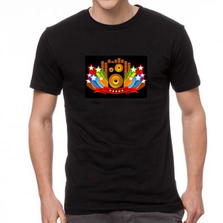 Color Speaker világító equalizeres póló