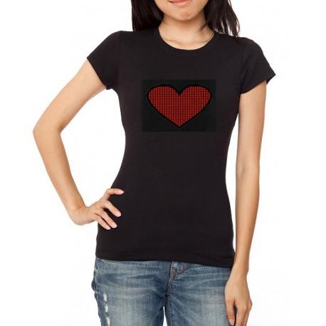 Red Heart világító equalizeres póló