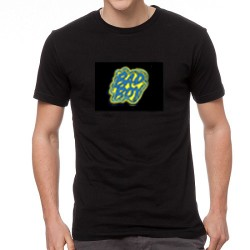 Bad Boy világító equalizeres póló