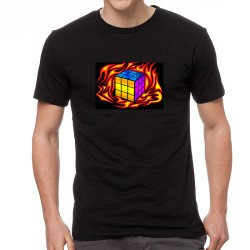 Burning Rubic világító equalizeres póló