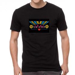 Disco Fun világító equalizeres póló