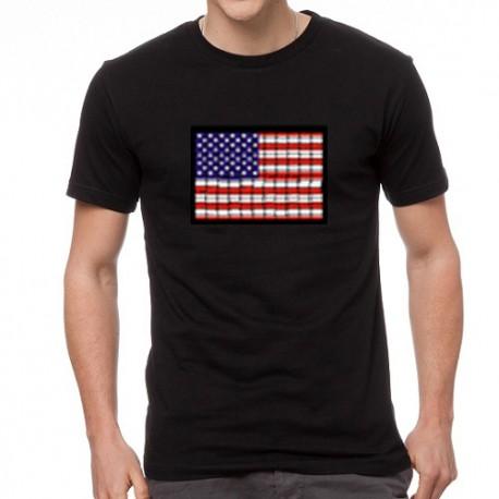 Americano EQ világító equalizeres póló