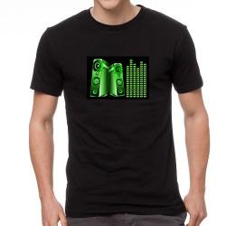 Speaker EQ világító equalizeres póló