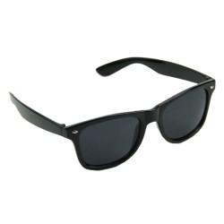 Fekete SZTK keretes hipszter geek napszemüveg sötétített lencsével