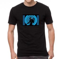 Blue DJ világító equalizeres póló