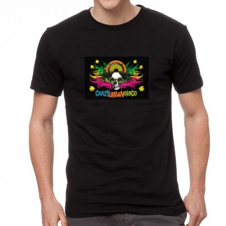 Crazy Disco világító equalizeres póló