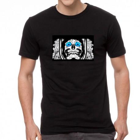 Flashing Skeleton világító equalizeres póló