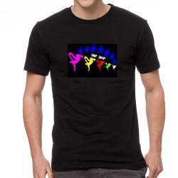 HipHop EQ világító equalizeres póló