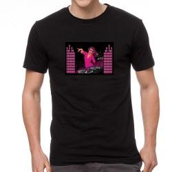 Pink DJ világító equalizeres póló