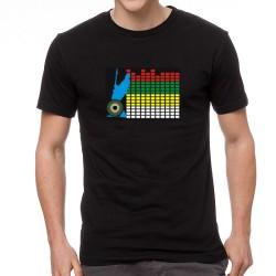 Guitar EQ világító equalizeres póló