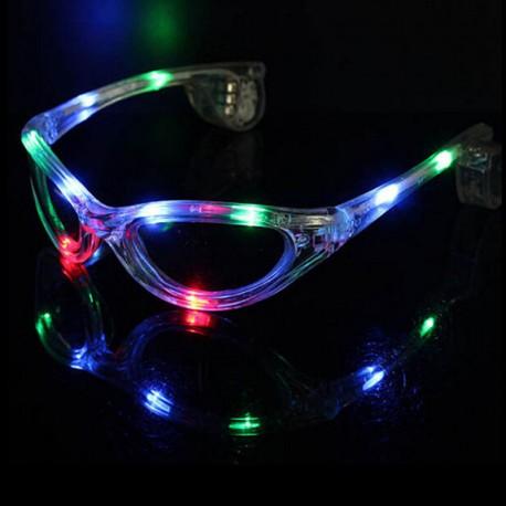 Világító LEDes party szemüveg