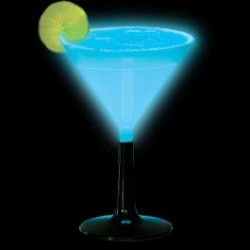 Világító martinis pohár