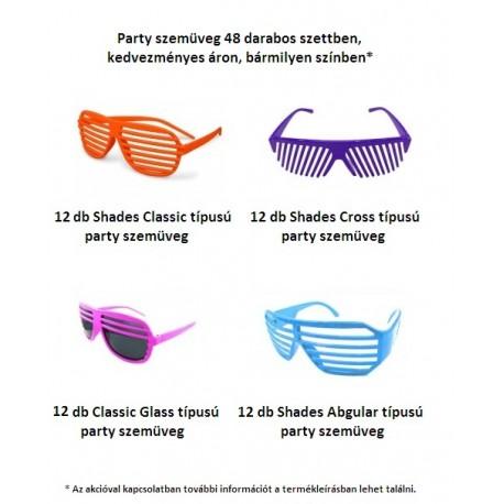 Party szemüveg 48 darabos szettben