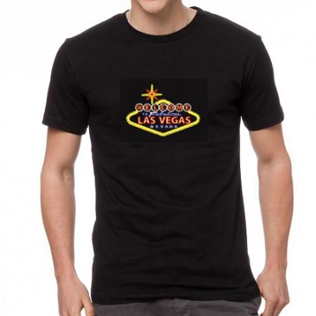 Las Vegas világító equalizeres póló