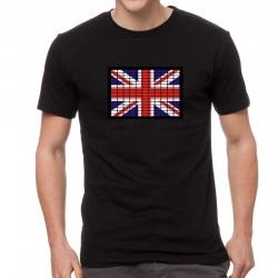 England Flag világító equalizeres póló