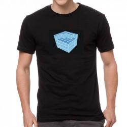 Blue Cube világító equalizeres póló
