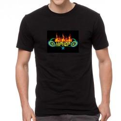 Hiphop Star világító equalizeres póló