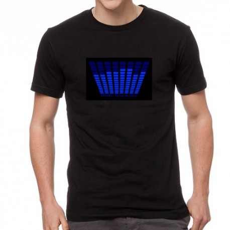 Blue Equalizer világító equalizeres póló