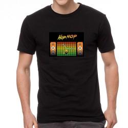 Break Dance világító equalizeres póló