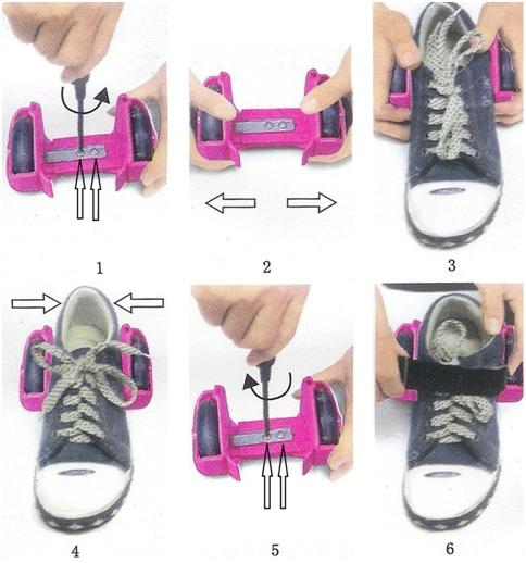 Világító guruló cipő adapter használati utasítás